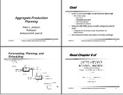 Aggregate Production Planning 4xgs