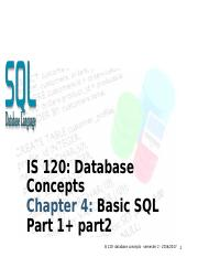 Lecture 5 -  Basic SQL .pptx.ppt