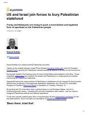 Dauoud Kuttab-US and Israel join forces to Bury Palestinian Statehood-Feb 2017