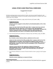 2008_LEGAL ETHICS AND PRACTICAL EXERCISES_ Suggested Answers