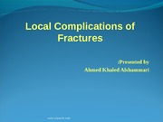 2 - Local Complications of Fractures - D3