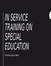 In-service Training Special Education Presentation