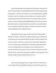 Growing up English Essay