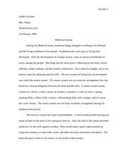 Essay help on feudalism?