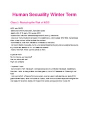 Human Sexuality Winter TermL2