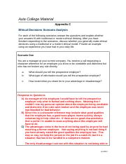 Week 5 Appendix C-Ethical Decisions.doc
