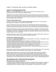 Chapter 17 - advertising, sales and promotion notes