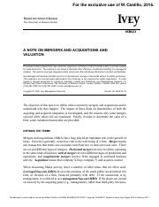 A Note On Mergers and Acquisition Valuation.pdf