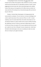 Study abroad reflection paper