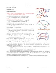 MATH 275 Connectivity Notes