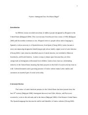 Latino Multicultural Research Paper