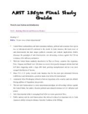 AMST Final Study Guide