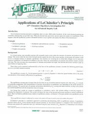 applications of le chateliers principle flinn answers