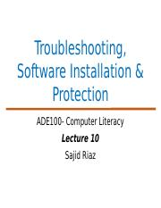 ADE Lecture 10-Troubleshooting