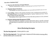 Databases in Direct Marketing and Their Strategies
