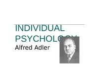 Adlerian Individual Psychology
