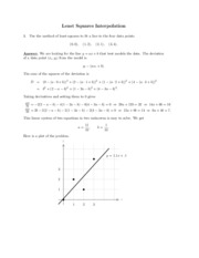 Least Squares Interpolation study guide