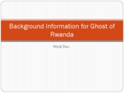 Background Information for Ghost of Rwanda[1]