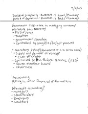 BBG E101 NOTES PERIOD OF PROSPERITY