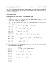 exam 3 fall 2008 solutions