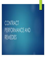 L201 -- Ppt for 10-11 class (contract performance and remedies).pdf