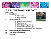 Lecture 1_Flowering Plant Body