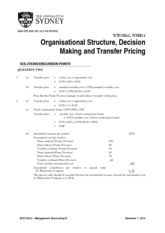 ACCT3012 Tute Qns - Wk 04 - s1 2015 (Numerical Solutions)(1)