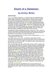a plot overview of the story of death of a salesman Death of a salesman: novel summary: act 1, scene 1, free study guides and book notes including comprehensive chapter analysis, complete summary analysis, author.