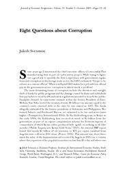 Eight Questions about Corruption