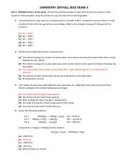 CHEM109 Exam 3 FA 2015 GOLD KEY(1)