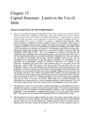 Ch 15 Capital Structure Limits to the Use of Debt_1