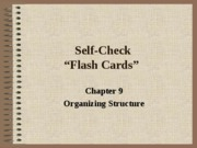 Self Check Chapter 9
