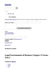 Legal Environment of Business Chapter 4 Terms