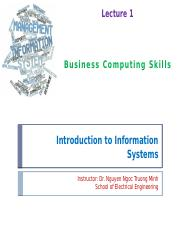 Lecture 1 - Overview of Information Systems.pptx