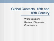 Global Contact  15th 16th Cent IEB
