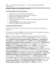 UNIT 1 – RESEARCH ASSIGNMENT 1 – EXPLOYRING PROGRAMMING LANGUAGES.docx