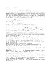 MATH 211 Fall 2010 Final Exam Solutions