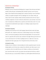 MGMT 215 Unit 1 Individual Project Grade Rubric template