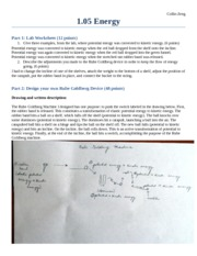 1.05 Energy - Part 1 Lab Worksheet(20 points Give three examples ...