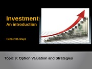 Topic 9- Option valuation and startegies