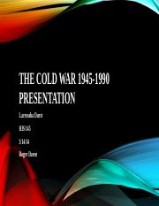 The cold war 1945-1990 presentation