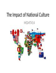 The Impact of National Culture2
