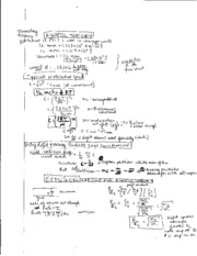 Kinetic Theory and Van Der Waals Notes