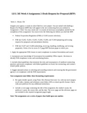 ABS 415- Assignment 2 - Draft Request for Proposal (RFP)