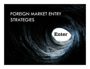 L7 foreign market entry strategies for post