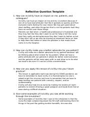 Foundations of Professionalism and Civility Reflective Questions.docx