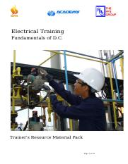 E-01 Fundamentals of D.C. Trainer's Resource material Pack WC_Rev 1.doc