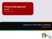 Lecture 5 - Time Value of Money with notes
