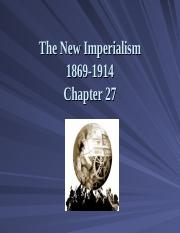 Ch27 PowerPoint - New Imperialism