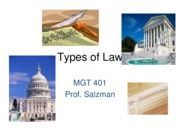 J11 MGT 401 - Types of Law